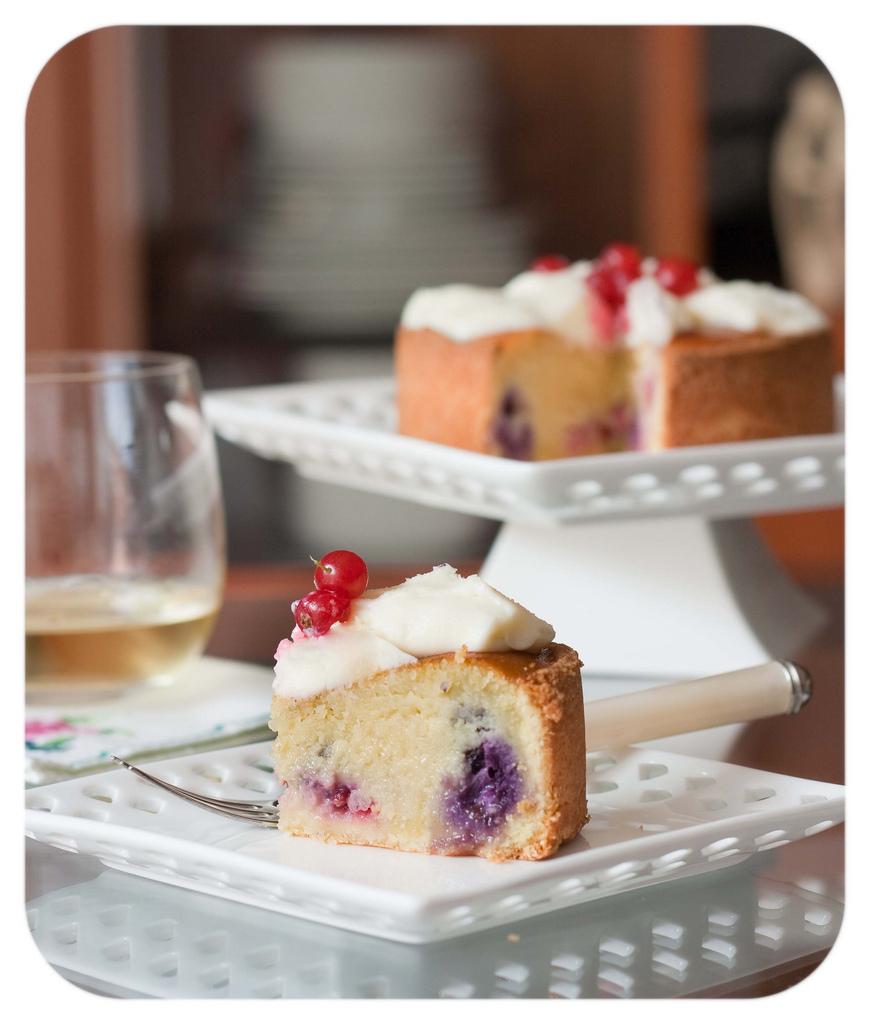 Berries and almond tart